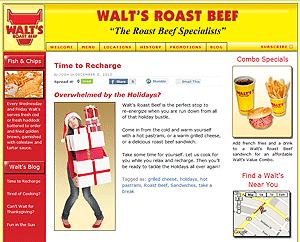 Walt's Roast Beef Blog