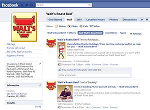Walt's Roast Beef Facebook Wall Page